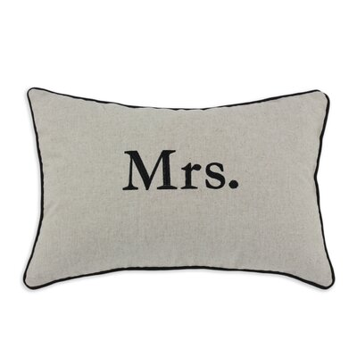 "Chooty & Co ""Mrs."" Natural Linen Pillow"
