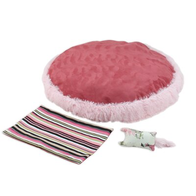 Shaggy 3 Piece Pet Bed Set