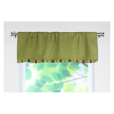 Chooty & Co Circa Solid Landry Stripe Rod Pocket Ruffled Curtain Valance