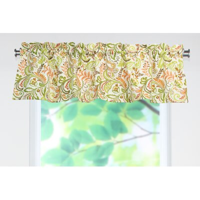 Chooty & Co Findlay Apricot Rod Pocket Tailored Curtain Valance