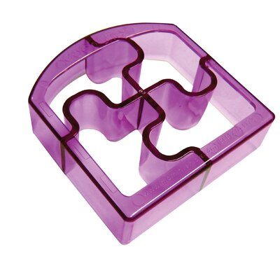 Ginsey Sandwich Cutters Puzzle Bites Translucent in Purple *NEW*
