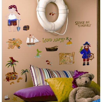 Room Mates Treasure Hunt Peel and Stick Wall Sticker