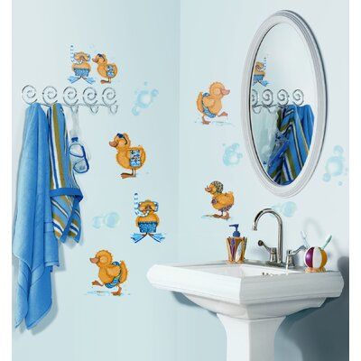 Room Mates Bubble Bath Peel and Stick Wall Sticker