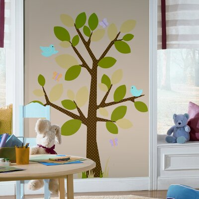 Room Mates Dotted Tree Peel and Stick Wall Decal