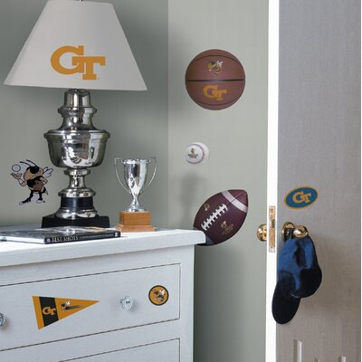 Room Mates Georgia Tech Jackets Peel and Stick Wall Decal in Yellow