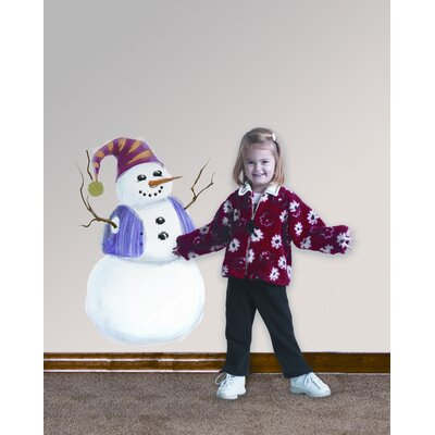 Room Mates Build A Snowman Peel and Stick Wall Decal