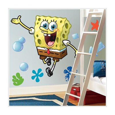 Room Mates Nickelodeon SpongeBob SquarePants Giant Peel and Stick Wall Decal