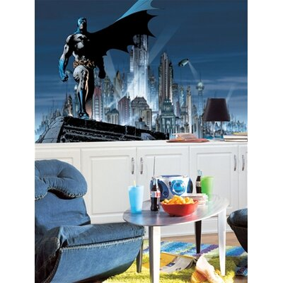 Room Mates Surestrip Batman Chair Rail Prepasted Mural