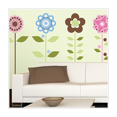 Room Mates Growing Flowers Peel and Stick Wall Decal
