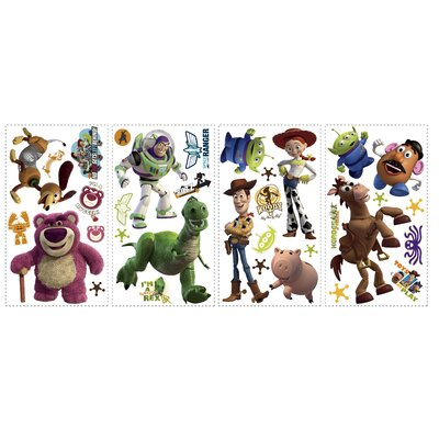 Room Mates Licensed Designs Toy Story 3 Peel and Stick Wall Decal with Glow in the dark