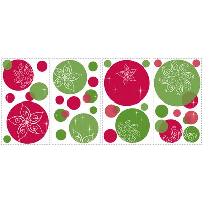 Room Mates Seasonal Festive Dots Peel and Stick Wall Decal