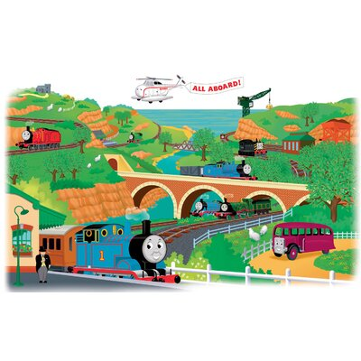 Room Mates Licensed Designs Thomas and Friends Peel and Stick Giant Wall Decal