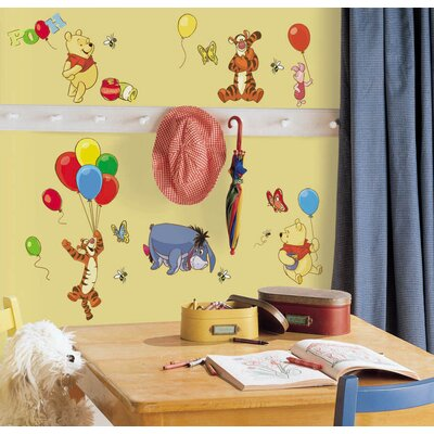 Room Mates Licensed Designs Pooh and Friends Peel and Stick Wall Decal Us Only