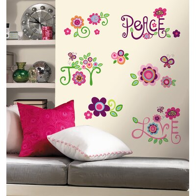 Room Mates Love Joy Peace Wall Decal
