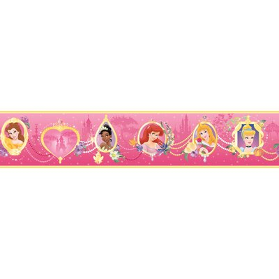 Room Mates Princess Frames Border in Pink