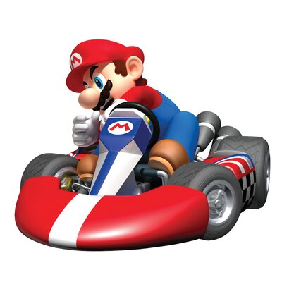 Room Mates Mario Kart Peel and Stick Giant Wall Decal