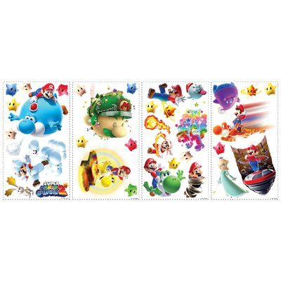 Mario Galaxy 2 Peel and Stick Wall Decal