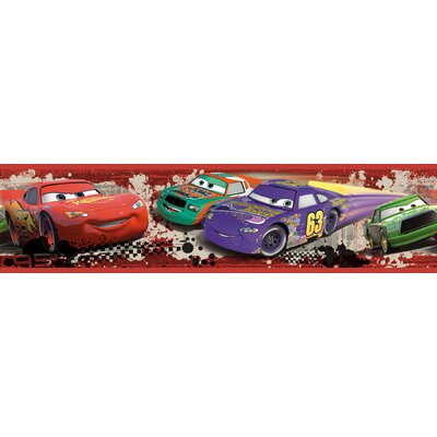 Room Mates Cars - Piston Cup Racing Peel and Stick Border