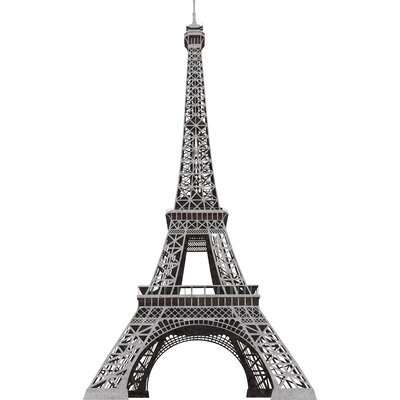 Room Mates 13-Piece Eiffel Tower Peel and Stick Giant Wall Decal