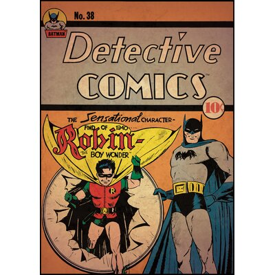 Room Mates Batman with Robin Peel and Stick Comic Cover Wall Decal