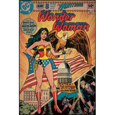 Room Mates Wonder Woman Peel and Stick Comic Cover Wall Decal