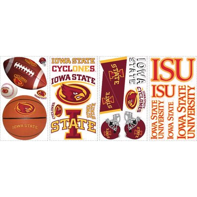 Room Mates 22-Piece Iowa State Peel and Stick Wall Decals
