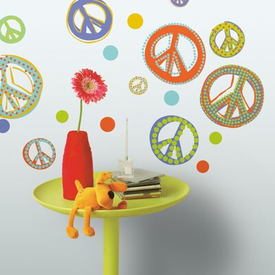 Room Mates Mod Peace Signs Peel and Stick Wall Decal