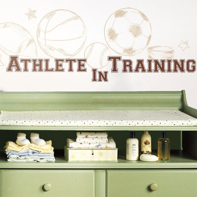 Room Mates Athlete in Training Peel and Stick Wall Decals