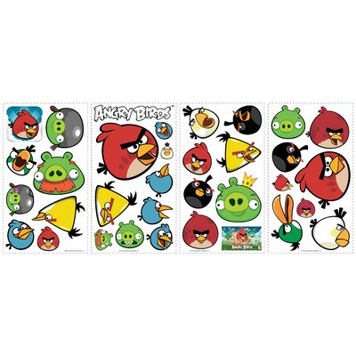 Room Mates 34-Piece Angry Birds Peel and Stick Wall Decal