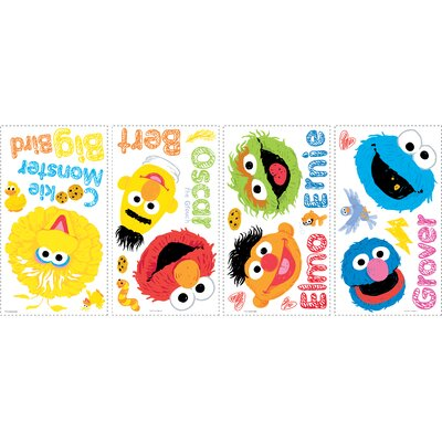 Sesame Street Scribble Peel and Stick Wall Decals