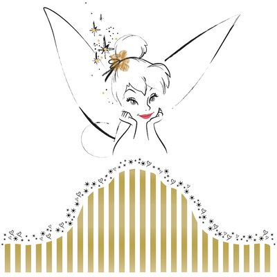 Room Mates Disney Fairies Tinkerbell Headboard Peel and Stick Giant Wall Decal