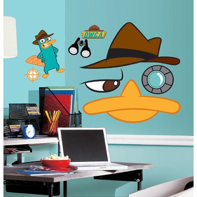 Room Mates Phineas and Ferb Agent Perry Peel and Stick Giant Wall Decals