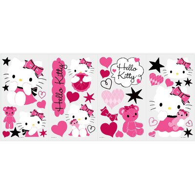Room Mates Hello Kitty Couture Peel and Stick Wall Decals