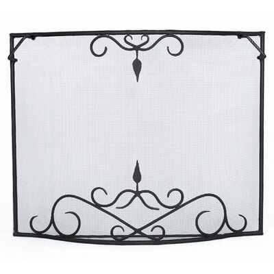 Minuteman International Bostonian Curved Wrought Iron Fireplace Screen