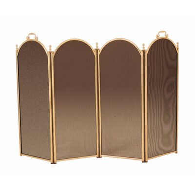 Minuteman International 4 Panel Brass Fireplace Screen