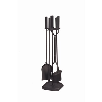 Minuteman International 4 Piece Iron Fireplace Tool Set