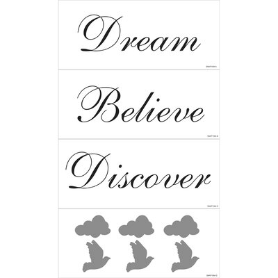 Blue Mountain Wallcoverings Dream, Believe, Discover Wall Art