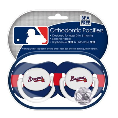 Baby Fanatic MLB 2 Pack Baby Pacifiers