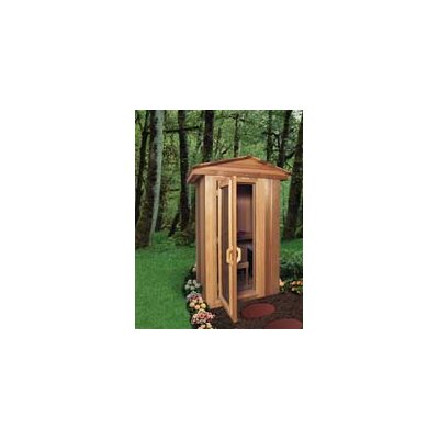 4' x 4' x 7' Outdoor Prebuilt Sauna with Shake Roof