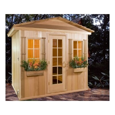 Baltic Leisure 6' x 8' x 7' Outdoor Prebuilt Sauna with Shake Roof