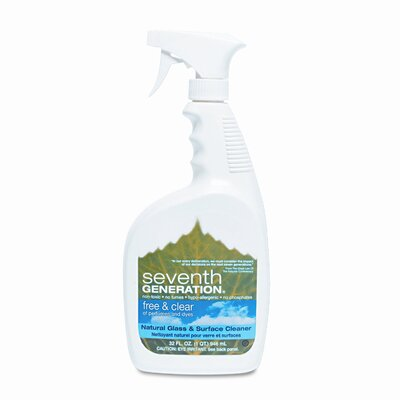Seventh Generation Free & Clear Natural Glass & Surface Cleaner, 32oz