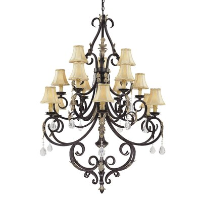 Minka Lavery Bellasera Fifteen Light Chandelier in Castlewood Walnut