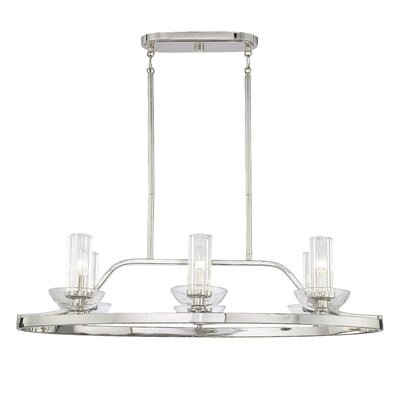 Urban Nouveau 6 Light Oval Chandelier