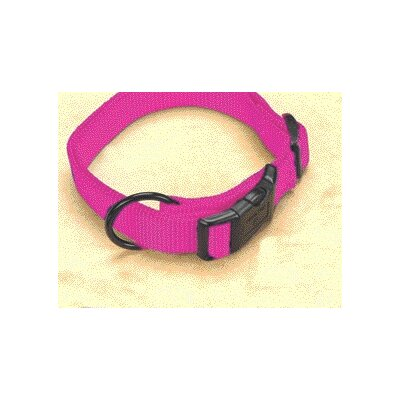 Adjustable Dog Collar in Hot Pink