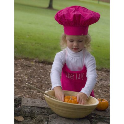 Princess Linens Doodlebugz Crayola Chef Hat and Apron Set in Hot Pink