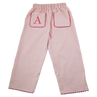 Bon Bon Corduroy Pant with Rick Rack Pocket in Light Pink with Hot Pink Trim ...