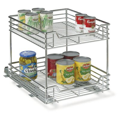 "Household Essentials Glidez 14.5"" Two Tier Sliding Organizer KD"