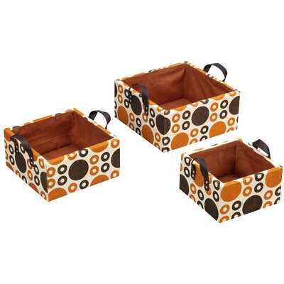 Household Essentials Fashion Baskets Square Paper Baskets (Set of 3)