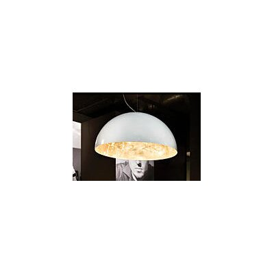 Oluce Sonora Suspension Lamp in Gold