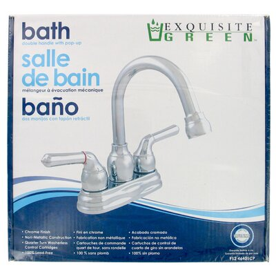 Centerset Bathroom Faucet with Cold and Hot Handles - 952-46405CP